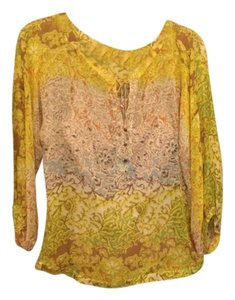 Diane von Furstenberg Top Yellow multi