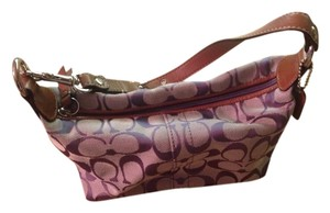 Coach Leather Strap Purple Lilac Wristlet in Purple-lilac