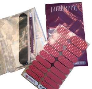 Jamberry Icy Rose Polka