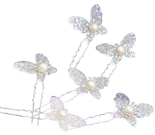 Set Of 3 Butterfly Hairpins