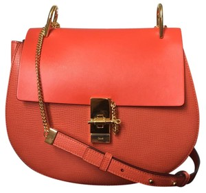 Chloé Drew Drew Medium Drew Drew Satchel in Coral Pop Chloe NWT