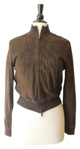 Burberry Bomber Suede Spring Brown Jacket