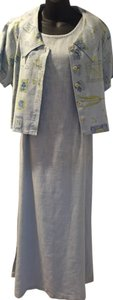 Soft Blue Maxi Dress by Sweet Jessie Linen Mint Condition