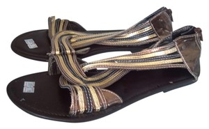 metallic/gold, copper, pewter Sandals