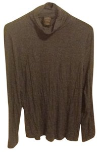 Grace Elements Soft Comfortable Turtleneck Grey Long Sleeve Casual Lightweight Sweater