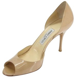 Jimmy Choo Sandal High Heel Patent Leather 439001238289 Beige/Nude Pumps