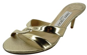 Jimmy Choo Low Heel New With Defects Pumps Sd442608982 Metallic Gold Sandals