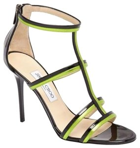 Jimmy Choo New With Out Box 429584838760 Pumps Striped Green Sandals