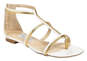 Jimmy Choo New With Defects 429584838761 Size 38.5 Flip Flops White Sandals