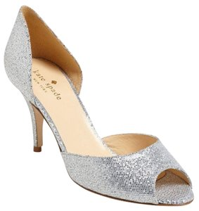 a84db1e4e908 Kate Spade Peep Toe New York Ksny Formal Wedding Silver Pumps