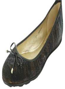 Jimmy Choo New With Out Box Sb-16698- Zebra Striped Brown Flats