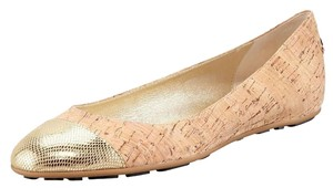 Jimmy Choo New With Out Box Sb-15284- Ballerina Cork Loafer Beige Flats