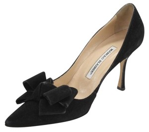 Manolo Blahnik Size 36.5 Manolo Man-woblisane-36.5 Black Pumps