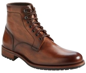 Magnanni Mens Marcelo Plain toe lace up boot size 13 Mid antiqued brown shoes