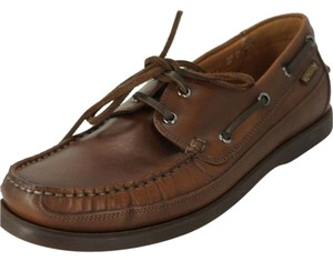 Mephisto Boating Brown Leather Deck Shoes Size 9 Us Loafers Mens Moccasin