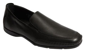 Mephisto Edlef black leather apron Toe Loafers size 8.5 air-jet all day comfort