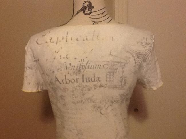 Westbound Sequins Floral Comfortable Picturesque Scenic Top Creme