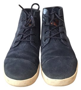 TOMS Paseo Suede Sneakers Navy Platforms