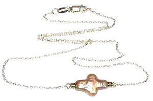 Other Freshwater Pearl Cross Chain Necklace
