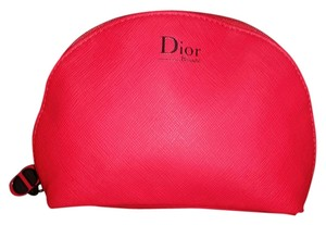 Dior Dior red leather like makeup bag/ clutch