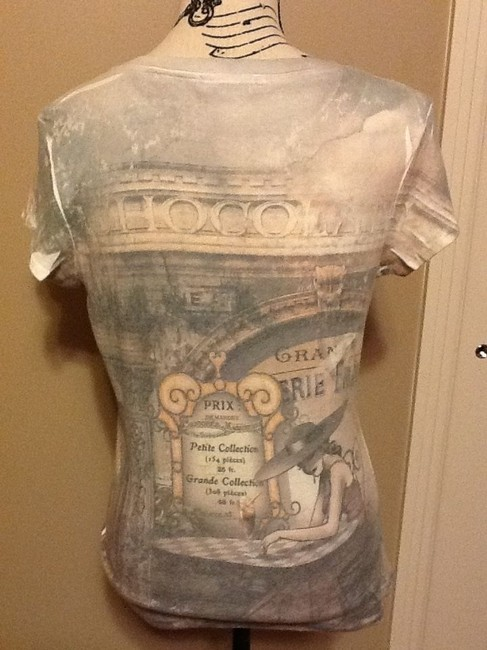 Blue Canyon Sequins Scenic Sleeve Soft Bistro T Shirt Browns/Greys