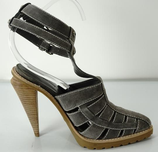 Alexander Wang Caged Ankle Strap Party Gray Boots Image 1