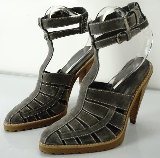 Alexander Wang Caged Ankle Strap Party Gray Boots Image 3