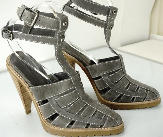 Alexander Wang Caged Ankle Strap Party Gray Boots Image 4