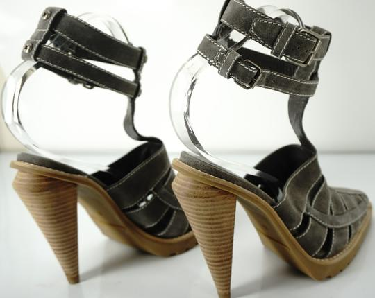 Alexander Wang Caged Ankle Strap Party Gray Boots Image 6