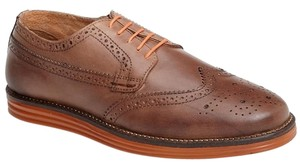 New Ben Sherman Zito Wingtip Brown Perforated Leather Tie SZ 42 9 Men's Shoes