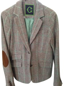 Other Turqouise Blue/Choclate/beige plaid Blazer