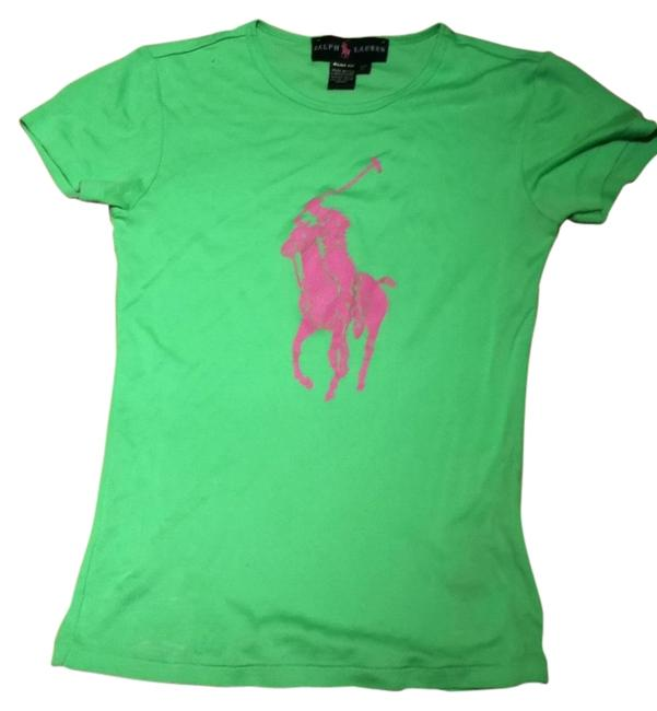 Preload https://item1.tradesy.com/images/ralph-lauren-green-and-pink-slim-fit-rn-94306-ca-08349-tee-shirt-size-2-xs-134215-0-0.jpg?width=400&height=650