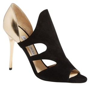 Jimmy Choo Formal Strappy Party Dressy Metallic Black Pumps