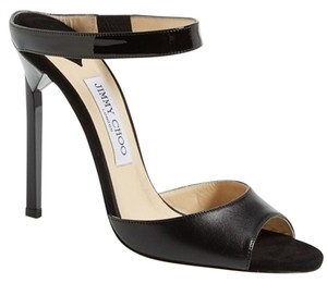 Jimmy Choo 448835678580 High Heel Strappy Black Pumps
