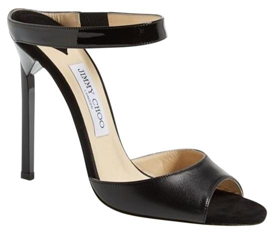 Preload https://img-static.tradesy.com/item/13422304/jimmy-choo-black-leather-deckle-ankle-strap-open-toe-sandal-pumps-size-eu-40-approx-us-10-regular-m-0-1-540-540.jpg