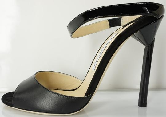 Jimmy Choo 448835678580 High Heel Strappy Black Pumps Image 1