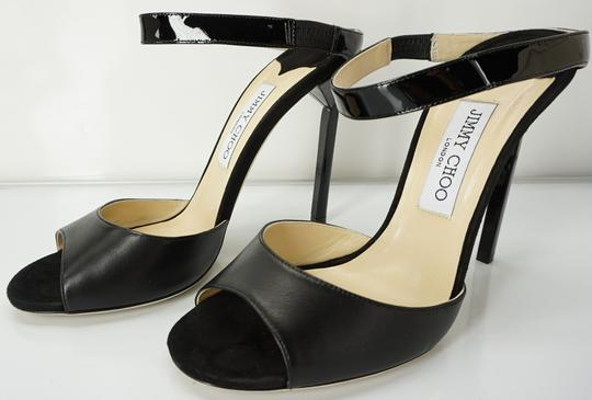 Jimmy Choo 448835678580 High Heel Strappy Black Pumps Image 2