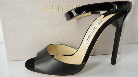 Jimmy Choo 448835678580 High Heel Strappy Black Pumps Image 9