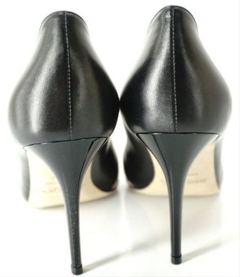 Jimmy Choo Formal Party Snake Pointed Toe Black Pumps Image 6