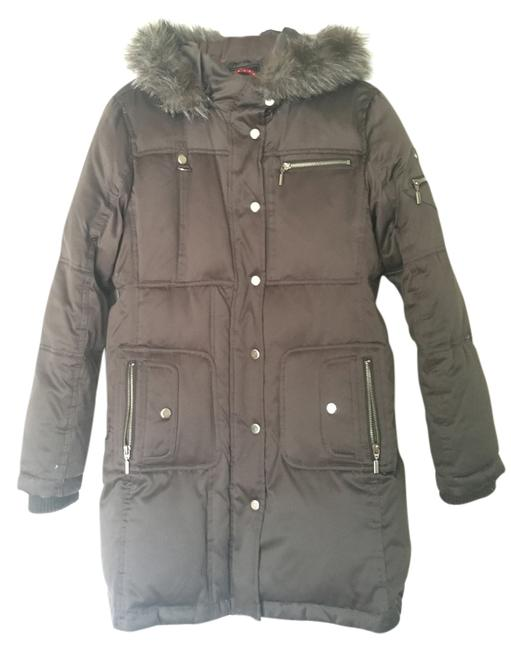 Item - Silver/Gray Faux Fur Hooded Puffer Winter Coat Size 8 (M)