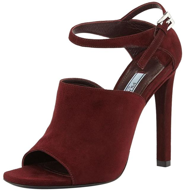 Item - Red Armarnato Suede Leather Ankle-strap Slide Sandals Formal Shoes Size EU 38.5 (Approx. US 8.5) Regular (M, B)