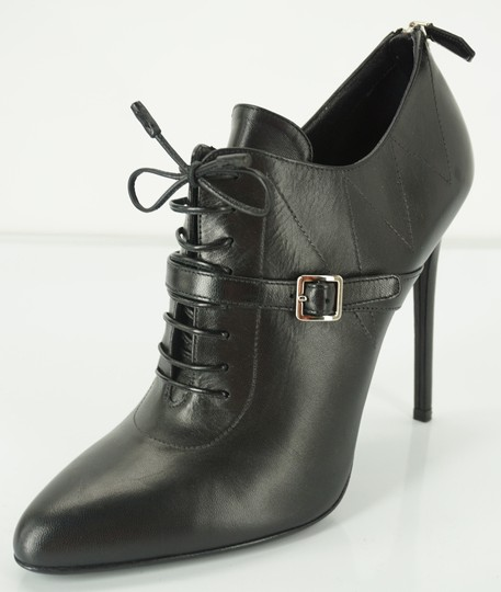 Prada Oxford Dressy Formal Classic Black Boots Image 1