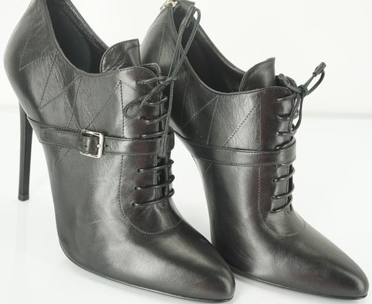 Prada Oxford Dressy Formal Classic Black Boots Image 2