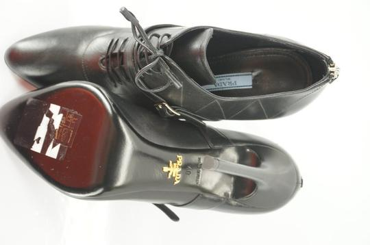 Prada Oxford Dressy Formal Classic Black Boots Image 4