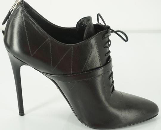 Prada Oxford Dressy Formal Classic Black Boots Image 8