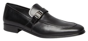 Salvatore Ferragamo Pinot Black Leather Side Vara Bit Loafer Sz 9 Shoes 595