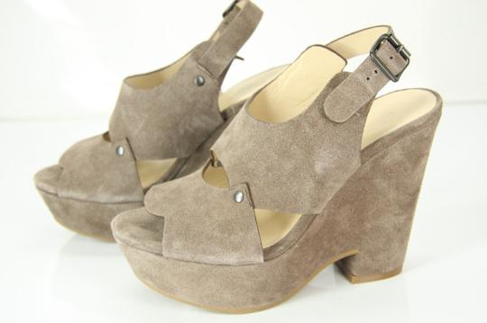 See by Chloé Chunky Dressy Party Gray Wedges Image 4