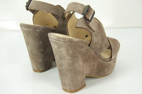 See by Chloé Chunky Dressy Party Gray Wedges Image 7