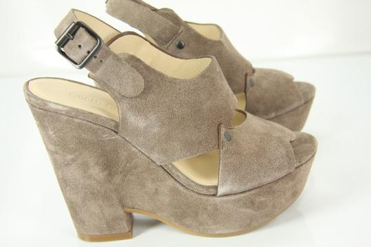 See by Chloé Chunky Dressy Party Gray Wedges Image 8