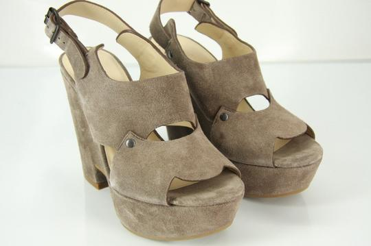 See by Chloé Chunky Dressy Party Gray Wedges Image 9